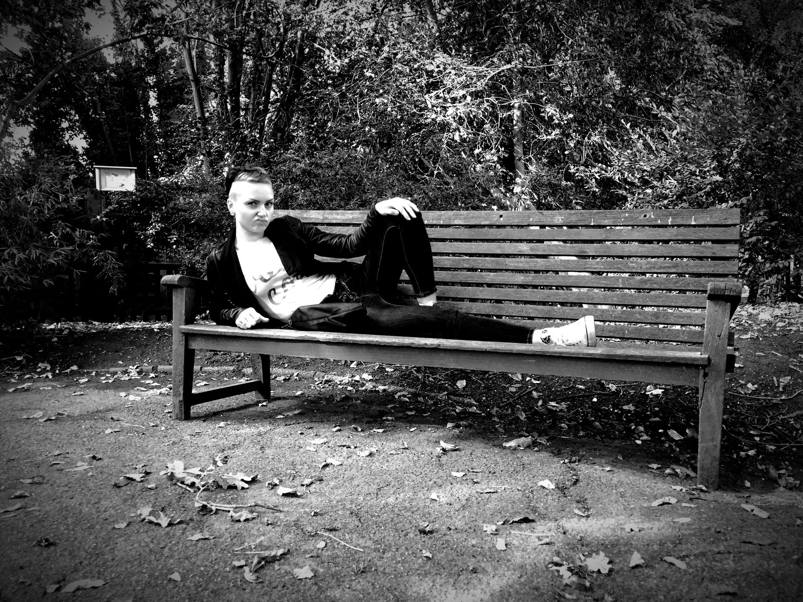 tree, bench, sitting, park bench, full length, park - man made space, relaxation, chair, empty, sunlight, seat, day, lifestyles, outdoors, nature, childhood, leisure activity, absence