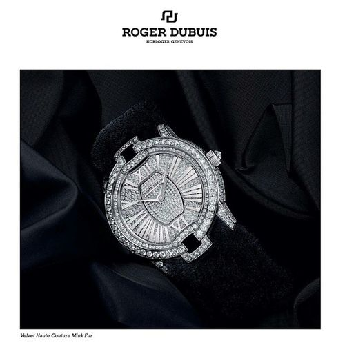 Watch by Roger Dubuis Horloger Genève with black mink bracelet made by Daniel Benjamin Geneva Haute Couture, collection Velvet Haute Couture. Rogerdubuis Horlogergeneva Horloger Geneva velvethoutecouture switzerland Russia Moscow astana Kazakhstan Kazan vipgroupkazan fur mink @danielbenjamingeneva @Rogerdubuis