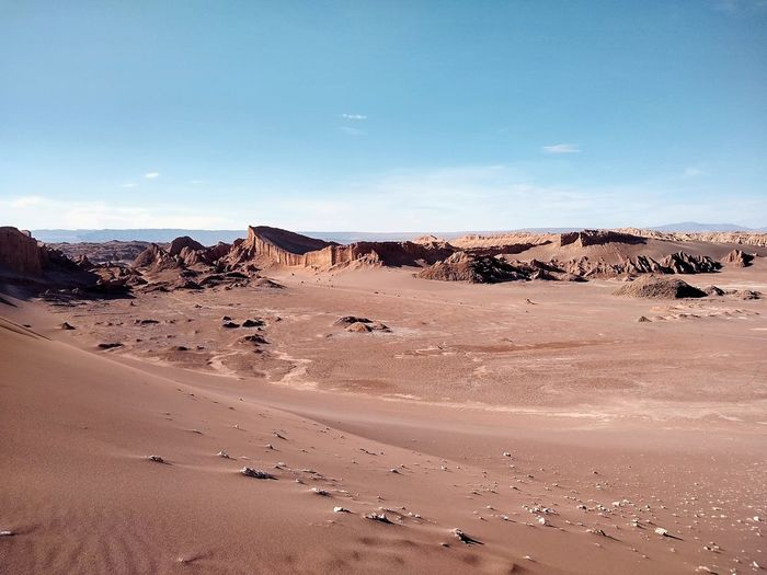 Valle de la luna in atacama - chile. the driest place on earth.