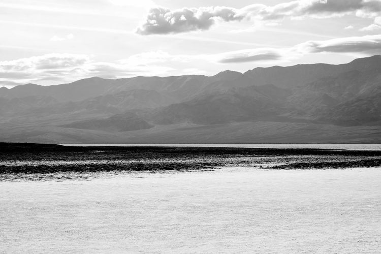 Death Valley Landscape Mountain Agriculture Outdoors Nature Cloud - Sky Sky No People Day Black & White Black And White Photography Death Valley National Park Salty Water Dramatic Landscape