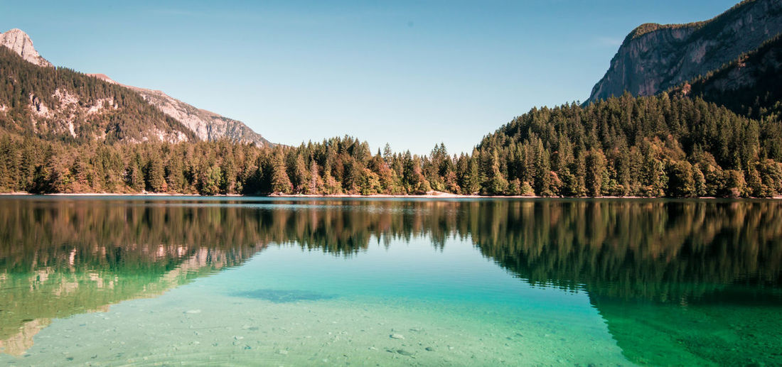 Splendid reflections. Water Tranquil Scene Reflection Scenics Tree Lake Tranquility Majestic Beauty In Nature Blue Calm Idyllic Nature Travel Destinations Trentino  Trentino Alto Adige Landscape
