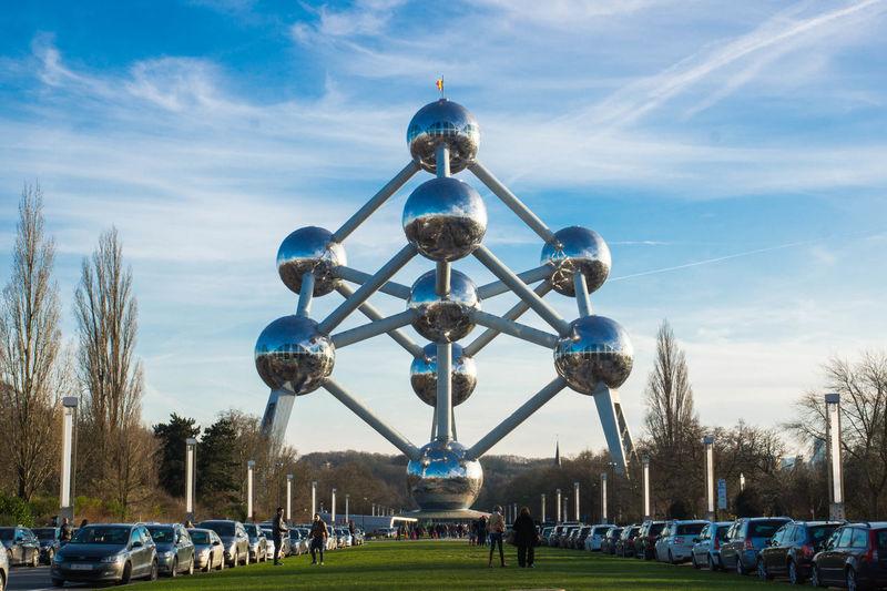 Architecture Atomium Atomium.Belgique. Belgium Brussels Bruxelles Cloud - Sky Day Sky