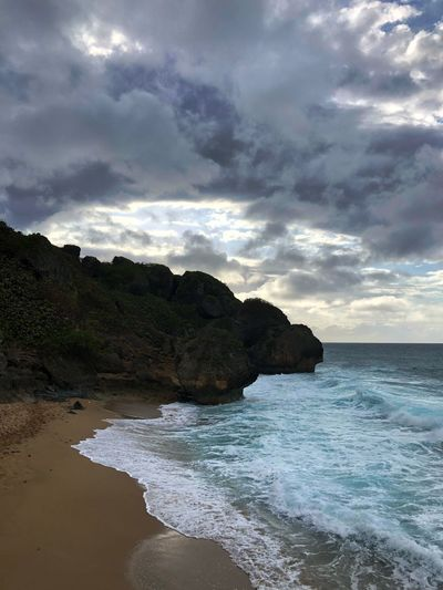 Beach wave Puertoricotourism Puertorico Water Sea Cloud - Sky Sky Land Beach Beauty In Nature Scenics - Nature Nature Wave Rock Motion Sport Rock - Object No People Tranquility Tranquil Scene Day Solid Horizon Over Water