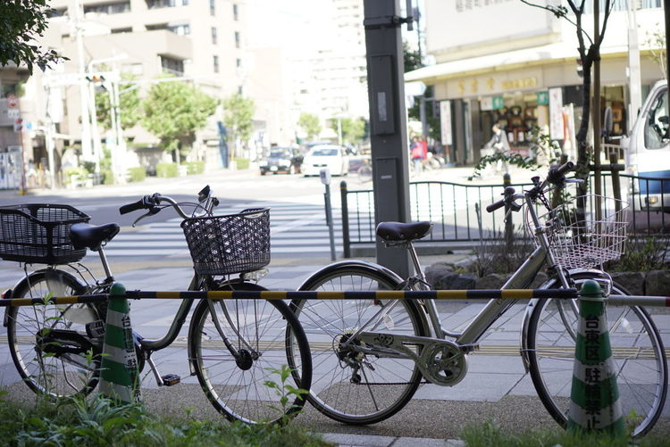 Last day in Japan Morning Light Coffee Bicycle Relaxing Time City Life Inaricho Tokyo,Japan