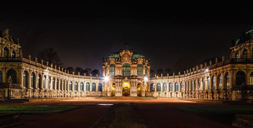 Dresden Dresdner Zwinger  Zwinger Architecture Nightphotography