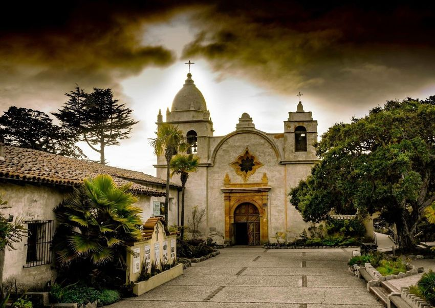 Carmel Mission, Carmel, California Religion Place Of Worship Architecture Spirituality Building Exterior Tree Built Structure Sky No People Outdoors Day California Love Carmel California California