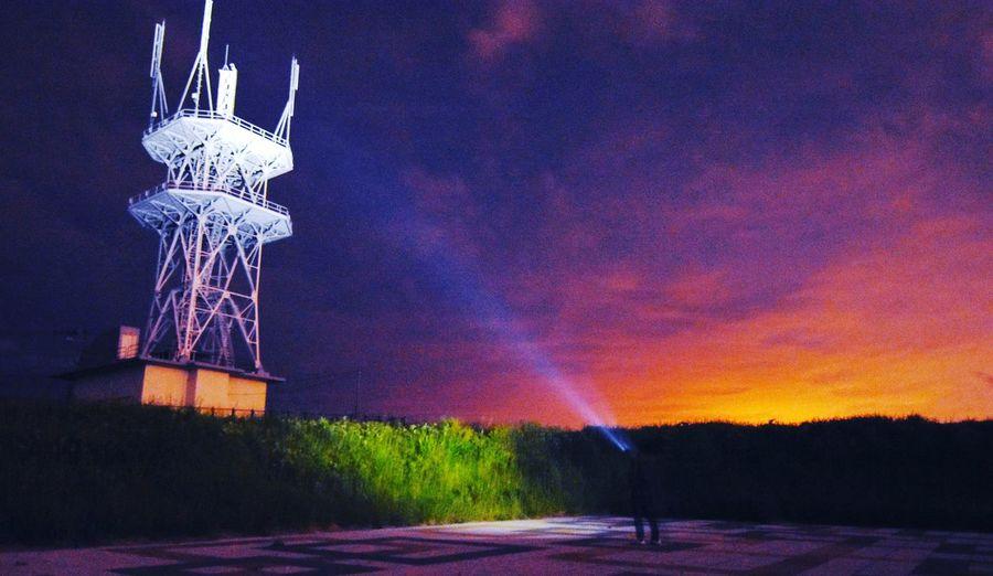 電波棟 ビーム Night No People Outdoors Sky Illuminated Innovation Astronomy 北海道 写真好きな人と繋がりたい EyeEm Gallery Nikon