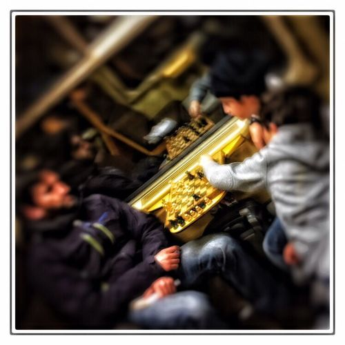 Travel Traveling NMBS Belgium Father Father & Son Playing Chess in Train IPhoneography Taking Photos
