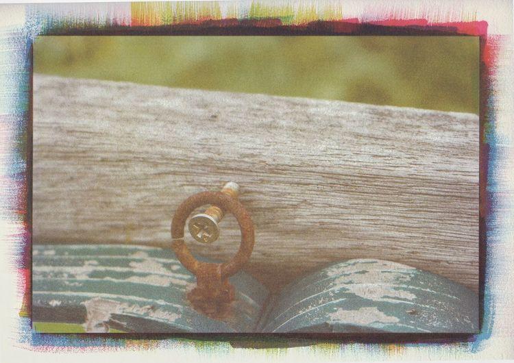 rust gum print Day Close-up Alternative Photography Gum Print