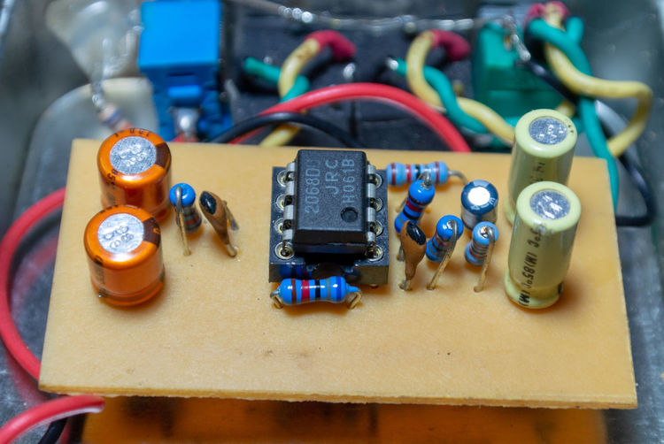 Amplifier Blue Cable Circuit Circuit Board Close-up Communication Complexity Connection Control Electrical Component Electrical Equipment Electricity  Electronics Industry Equipment Focus On Foreground Indoors  Industry No People Power Supply Still Life Table Technology