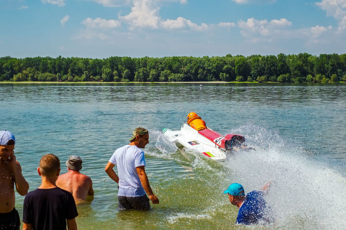 Ryahovo, Bulgaria - 05 August , 2017. Powerboat competition start, Ryahovo village, Ruse district, Bulgaria Danube Speed Boat Bulgaria Championship Competition Peoplee Power Boats River Ruse Ryahovo Adventures In The City The Photojournalist - 2018 EyeEm Awards The Street Photographer - 2018 EyeEm Awards