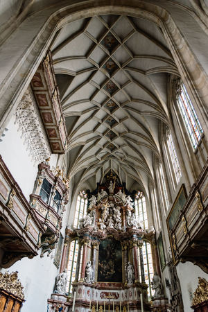 Interior view of Cathedral of Graz Austria Cathedral City Graz Travel Arch Architecture Austrian Day Destinations Famous Place History Interrior Landmark Low Angle View Nave No People Old Buildings Place Of Worship Religion Styria Travel