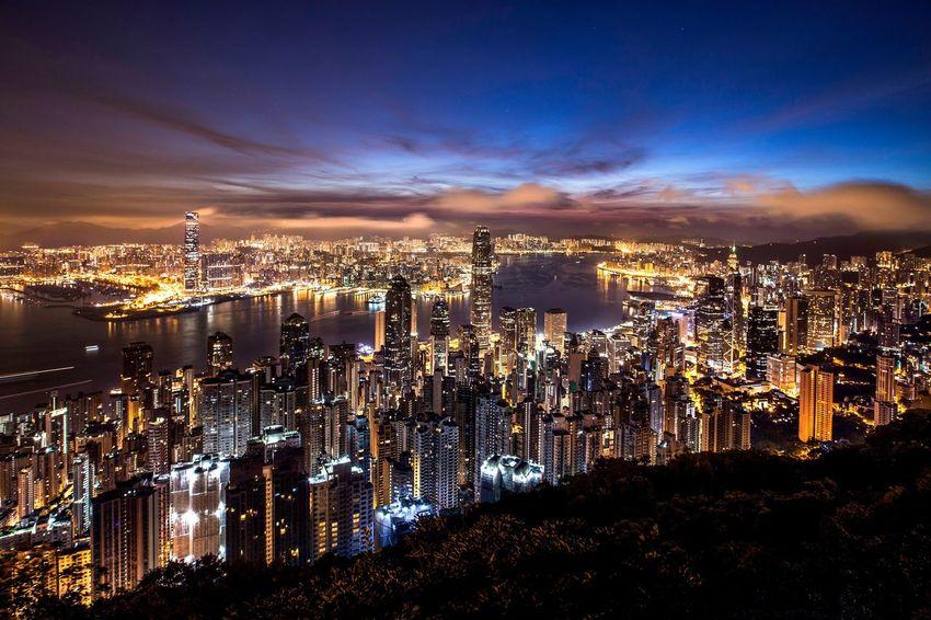 Photography Night Clouds And Sky Hong Kong Cityscapes HongKong