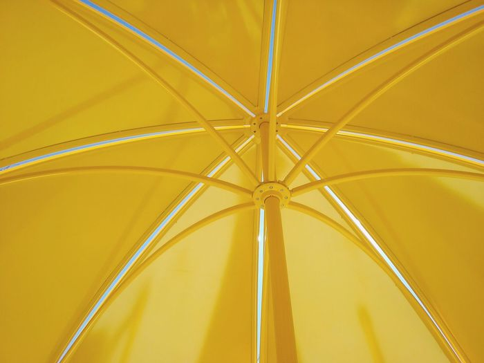 Full frame shot of yellow umbrella