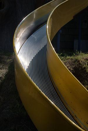 公園の遊具 Park Playground Equipment Close-up Day No People Outdoors Park Pipe - Tube Playground Equipment Reflection Slide in Hokkaido,Japan 公園 北海道 反射 滑り台 遊具