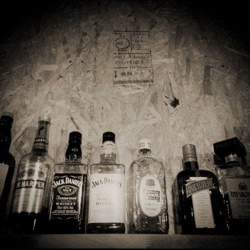Bar Liquor Bar Light And Shadow Drink Black & White Alcohol