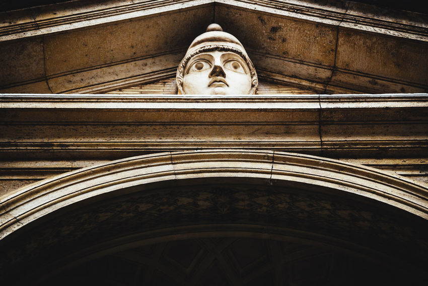 Rome Arch Architecture Building Built Structure History Human Representation Low Angle View No People Ornate Religion Representation Sculpture Spirituality Statue The Past Vatican Museum