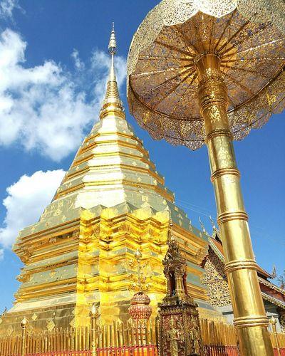 วัดพระธาตุดอยสุเทพ Gold Colored Statue Ancient Travel Chiangmai,Thailand Pagoda First Eyeem Photo