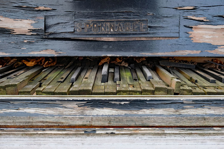 Sponnagel piano Abandoned Babygrand Close-up Day Historical Keyboard No People Outdoors Piano Pianomakers Sponnagel Street Streetphotography Weathered Wood - Material Piano Moments Piano Keys Pianokeys Piano