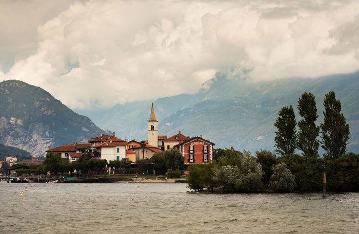 Fishermans' Island Lake Maggiore Stresa Italy Island Lake View Landscape Tranquility Water