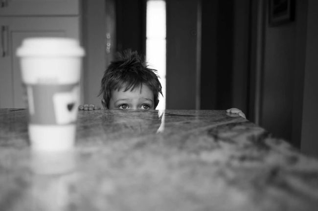 These are a few of my favorite things One Boy Only Child Childhood Headshot One Person Portrait Close-up Portrait Photography Toddlerlife Black & White Coffee