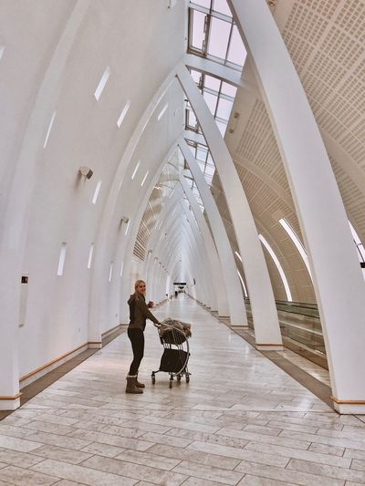 Airport Architecture Full Length Built Structure Adult Real People People Day Lifestyles Indoors  Travel Transportation Two People Women Leisure Activity Walking City Connection Ceiling
