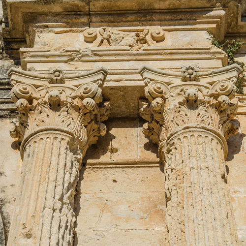 Architectural detail of Arkadi monastery Architecture Arkadi Monastery Historical Building Monastery Rethimnon Architecture Arkadi Building Exterior Built Structure Columns Crete Day Greece Historic History Low Angle View Monument No People Ornate Outdoors Place Of Worship Religion Sculpture