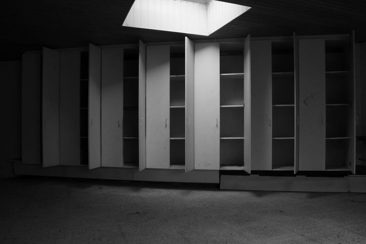 Black & White Architecture Building Exterior Built Structure Day Empty Closet Indoors  No People