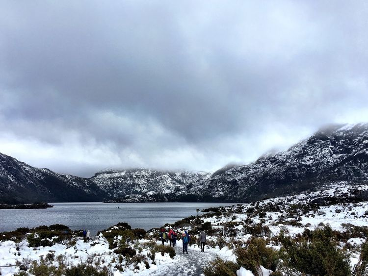 Snow Winter Cold Temperature Mountain Tranquil Scene Weather Season  Scenics Beauty In Nature Tranquility Landscape Mountain Range Covering Lake Nature Sky Non-urban Scene Cloud Snowcapped Mountain Remote Tourists Cradle Mountain Tasmania Spring Winter