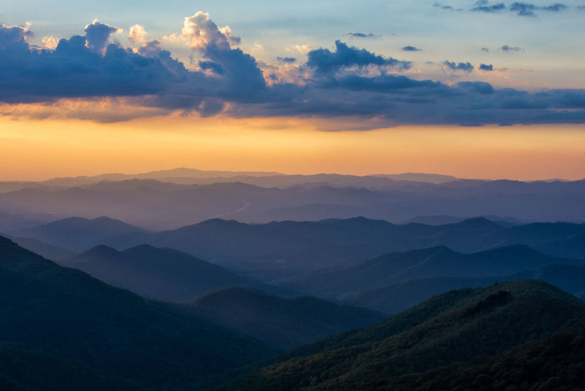 Beauty In Nature Blue Ridge Mountains Cloud - Sky Craggy Gardens Day Idyllic Landscape Mountain Mountain Range Nature No People Outdoors Scenics Sky Sunset Tranquil Scene Tranquility