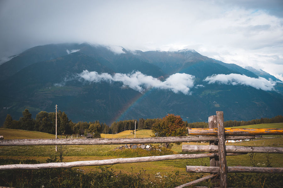 Sonya6000 Rainbow Tree Mountain Rural Scene Fog Storm Cloud Sky Landscape Atmospheric Mood Dramatic Sky EyeEmNewHere
