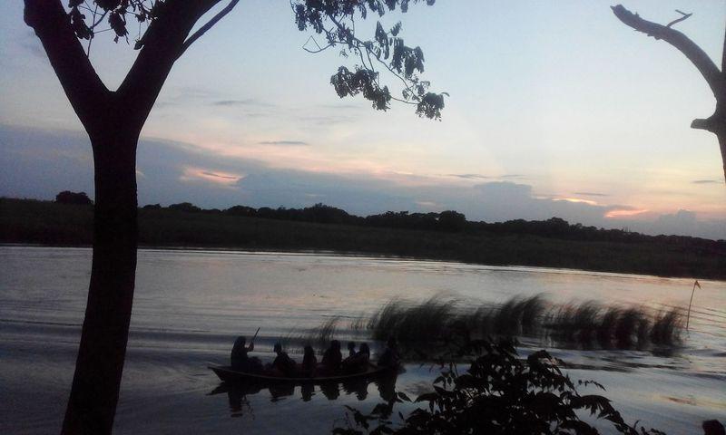 Rural Life Sunset Look At This Sky!  Through Phone Bangladesh