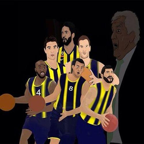 Fenerbahçe ülker Basketball Player Karikatur