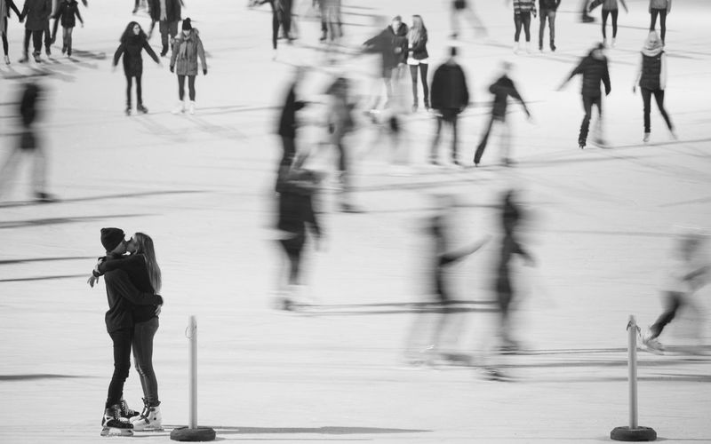Adult Adults Only Blurred Motion Day Full Length Iceskate Kiss Large Group Of People Men Motion Only Men Outdoors People Physical Activity Romantic Walking EyeEmNewHere