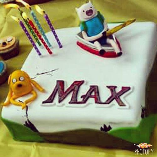Max's 5th birthday cake. Adventuretime Finnandjake Simplecake Birthdayboy Heturned5 My101010baby Funtimes Cakestagram Gumpastefigures Thorndonpark Keepingupwithmem