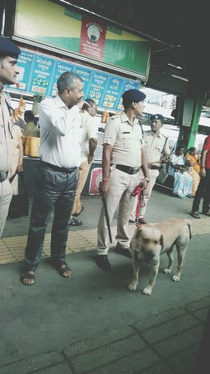 Indian Railway Station Police Shop Sniffer Dog Walky Talky Sexurity Arrangement