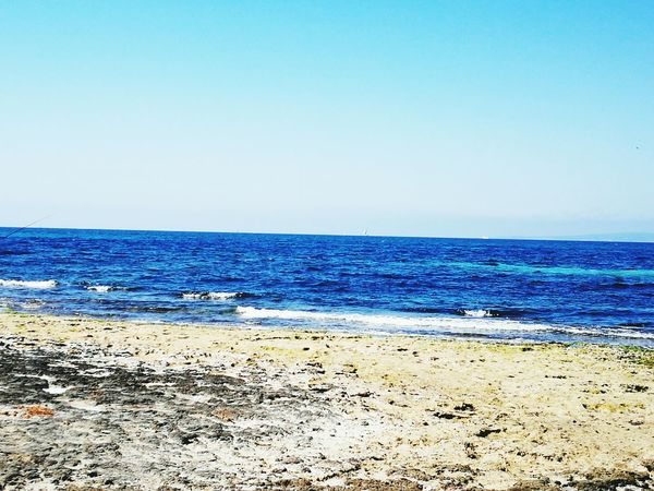 Sea Blue Horizon Over Water Outdoors Sand Water Beach Tranquility