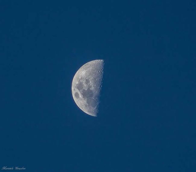 Moon Moon Surface Astronomy Half Moon Night Low Angle View Blue Sky No People Crescent Outdoors Space Clear Sky Nature UnderSea Close-up Animal Themes