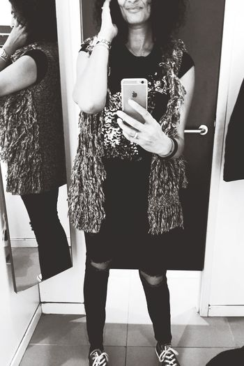 Strike a pose Clothes Finding An Outfit Dress To Impress Capture The Moment My Smartphone Life Women Of EyeEm Hello World People Blackandwhite Fashion