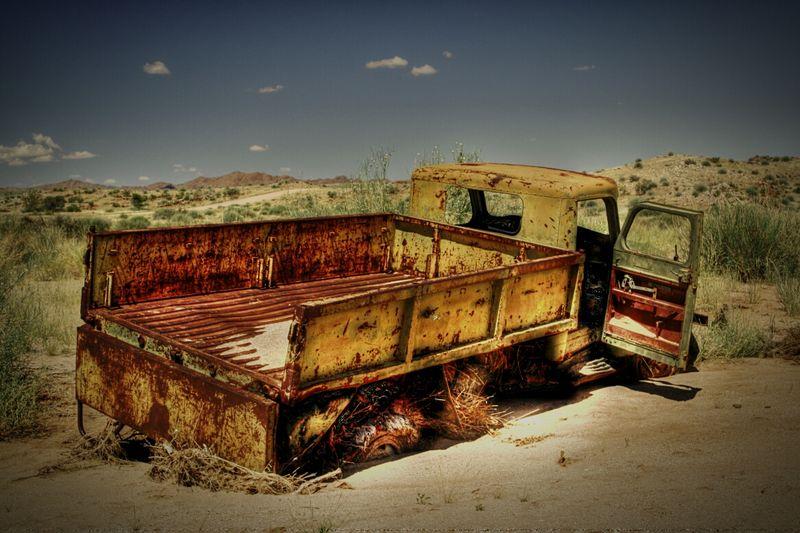 Taking Photos Car Old Car Desert Road Namibia Mario's Namibia Desert