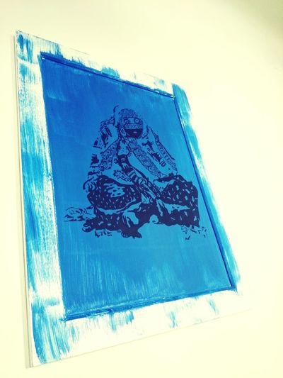 Drawing Art Blue