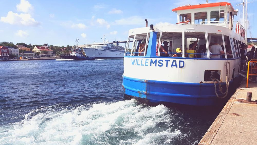 Taking Photos Curacao in Willemstad Curacao Ferry Photography Ferry Passengers Ferryride Ferryphotography