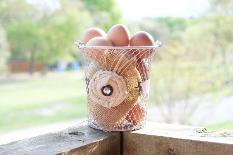 Fresh farm harvest of chicken eggs. Farm Basket Chicken Egg Chicken Eggs Close-up Container Day Egg Farm Eggs Food Food And Drink Freshness Harvest Healthy Eating Nature No People Outdoors Still Life Wellbeing Wood - Material