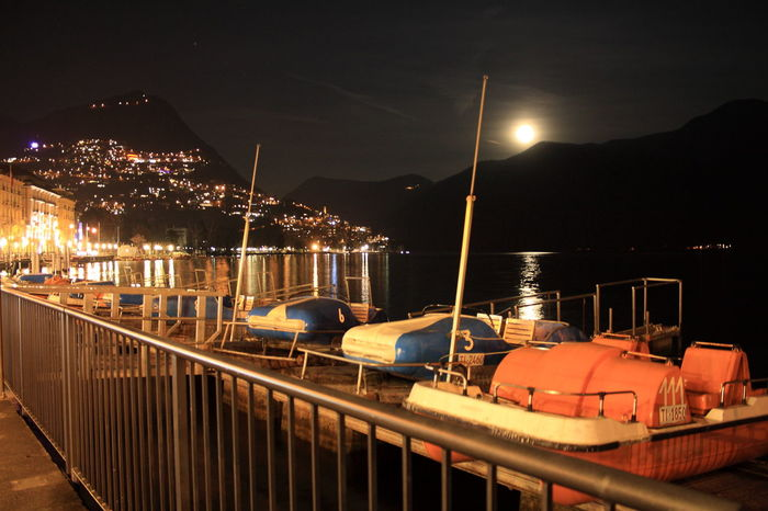 Here Belongs To Me Lugano, Switzerland Pedalo Moon Full Moon Cities At NightOvernight Success Battle Of The Cities in Lugano, Switzerland.