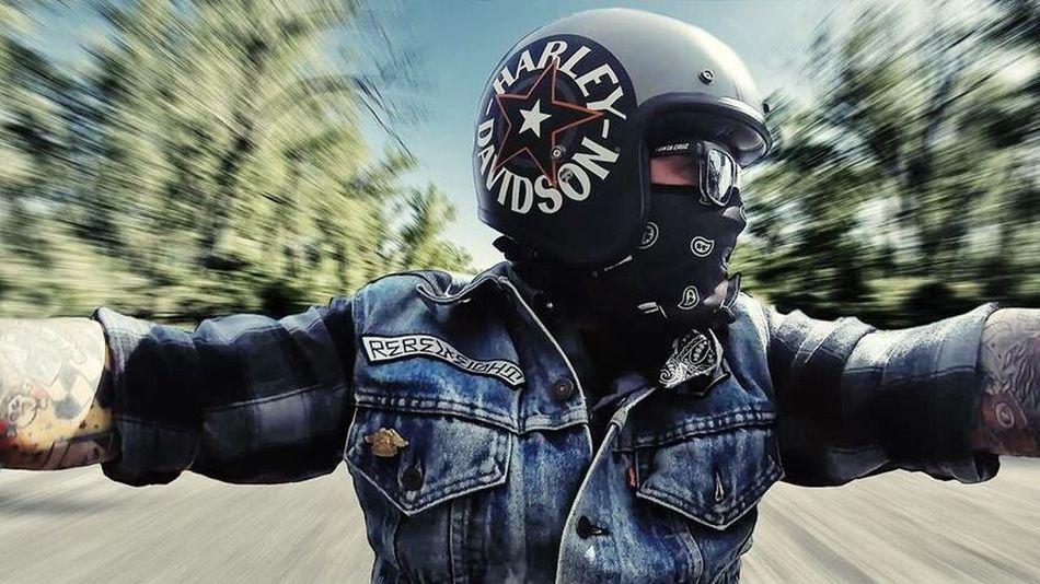 Harley Davidson Rider Harleydavidson Harley Davidson Biker Bikers Helmet Rider Bandana Selfie ✌ Polaroid Cube Camera Polaroid Cube First Eyeem Photo