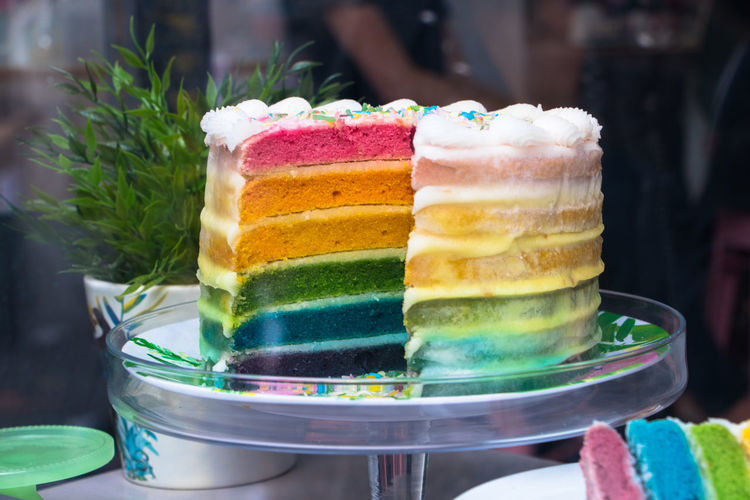 Rainbow Cake Sugar Baked Cake Cake Time Cake♥ Confectioner's Shop Confectionery Dessert Dolcé Eleonora Cacciari Food Food And Drink Multi Colored Pasticceria Pastry Shop Still Life Strati Di Torta Sweet Sweet Food Table Torta Torta A Strati Zuccheri