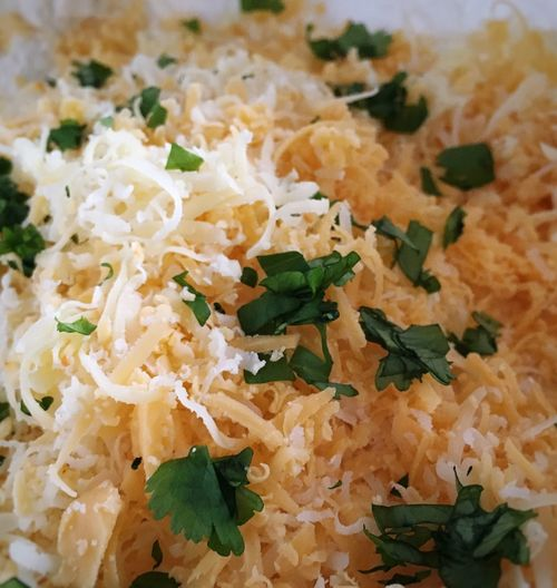 Choose cheese & coriander... Cheese Freshly Grated Cheese Coriander Leaf Cooking Ingredients Foodblogger Foodblog