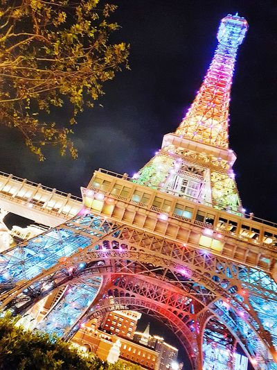 Parisianmacao Night Travel Destinations Celebration Ferris Wheel Outdoors Illuminated City Architecture Multi Colored Building Exterior No People Sky Amusement Park Cityscape