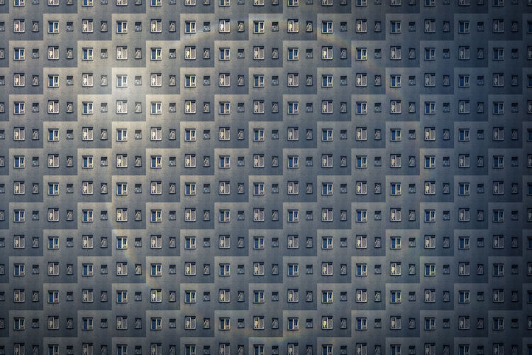 Architecture Pattern Textured  Background Anonymous Modern Repetition No People City Metropolis Façade Flats Future Housing Overpopulation RENT Building