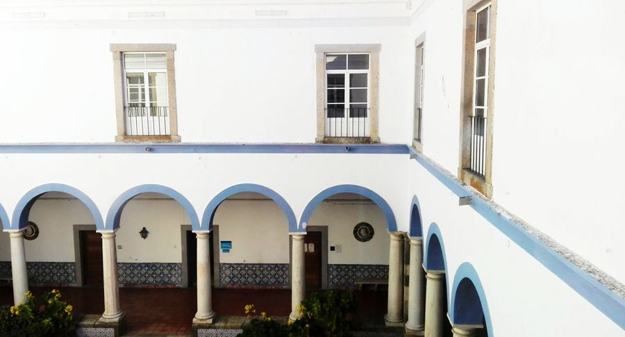 Architecture Window Building Exterior Built Structure No People Outdoors Balcony Whitewashed Day Portugal Évora  Colors City Sun Urban Photography Blue Autumn Living Colorful